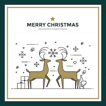 Einfache weihnachtskarte