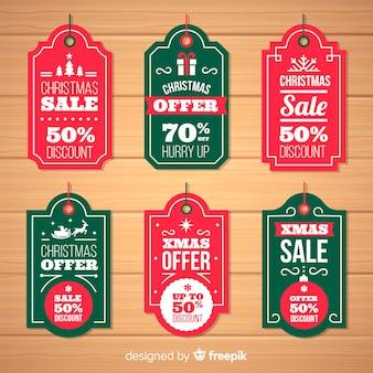 Einfache weihnachtsverkaufsaufkleber