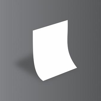 Einfache weiße mockup auf grauem hintergrund