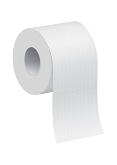 Einfache weiße toilettenpapierrolle