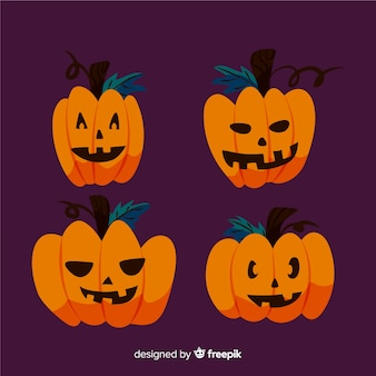 Einfache zeichnung des halloween-kürbises