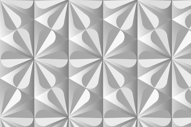 Einfacher 3d-geometrischer mustervektor grauer hintergrund