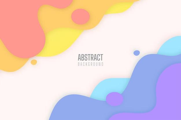 Einfacher abstrakter hintergrund der modernen flüssigen farbigen tropfen.