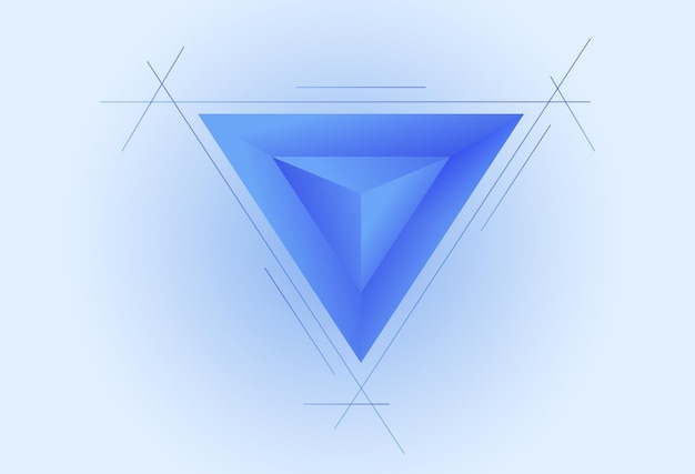 Einfacher abstrakter hintergrund mit dreieck-3d-art-einfache blaue tapeten-vektor-illustration