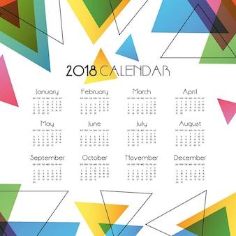 Einfacher abstrakter vektor-kalender 2018
