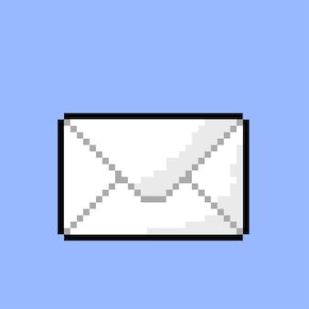 Einfacher brief mit pixel-art-stil