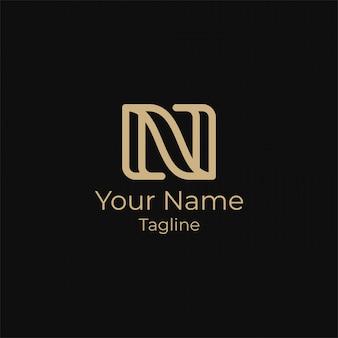 Einfacher buchstabe n erstes logo-design