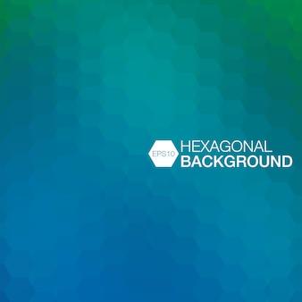Einfacher bunter hintergrund, der aus hexagonen besteht