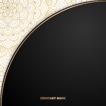 Einfacher geometrischer ornamentschablonen-mandalahintergrund