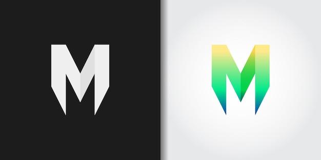 Einfacher grüner buchstabe m logo