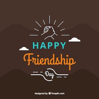Einfacher hintergrund der glücklichen freundschaft