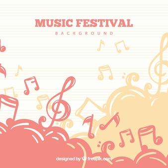 Einfacher hintergrund für musikfestival