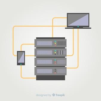 Einfacher hosting-service-hintergrund