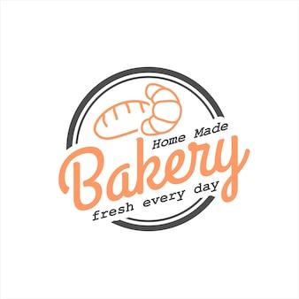Einfacher kreis hausgemachte bäckerei abzeichen stempel