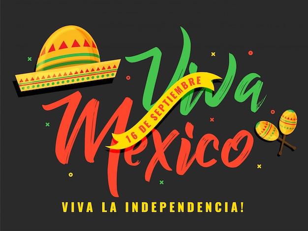 Einfacher mexiko-unabhängigkeitstag des hutes