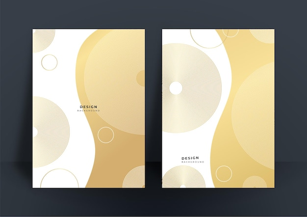 Einfacher minimaler luxuriöser weißgoldhintergrund