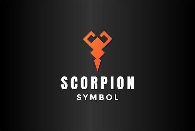 Einfacher minimalistischer skorpion-skorpion-symbol-logo-design-vektor