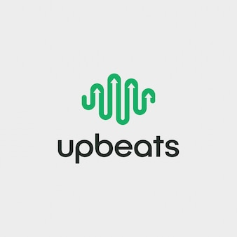 Einfacher modernbeat logo-design-vektor