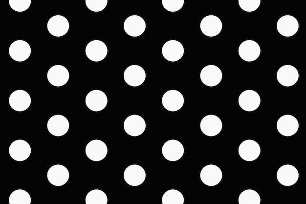 Einfacher musterhintergrund, tupfen im schwarzweiss-vektor