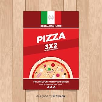 Einfacher pizza restaurant flyer