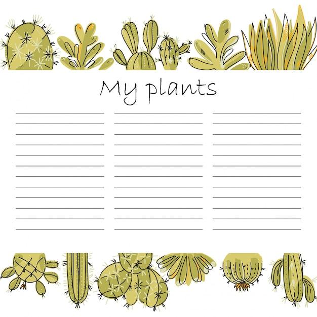 Einfacher planer für die pflanzenpflege