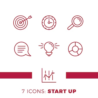 Einfacher satz von start up oder business related