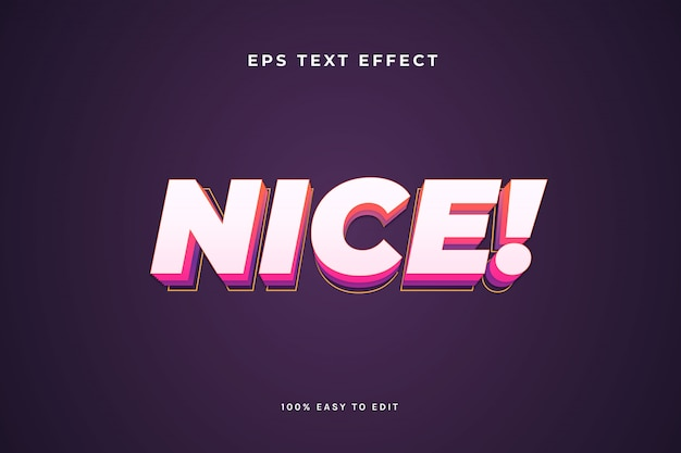 Einfacher schöner 3d-texteffekt