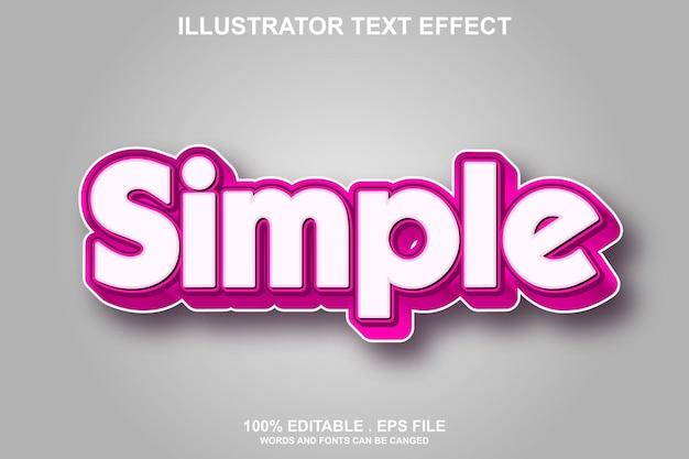 Einfacher texteffekt editierbar