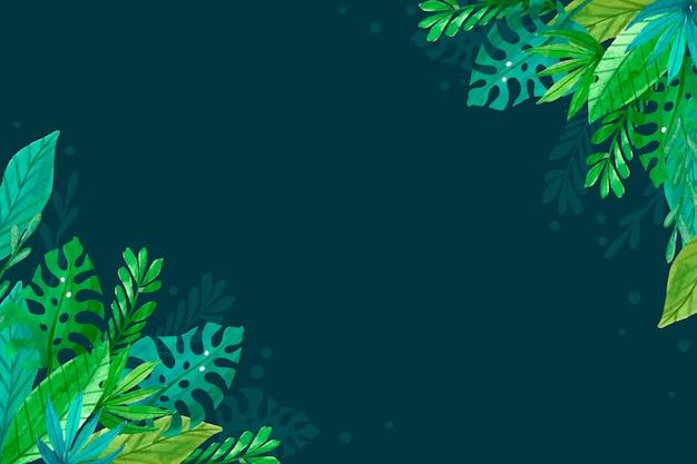 Einfacher tropischer blätterhintergrund
