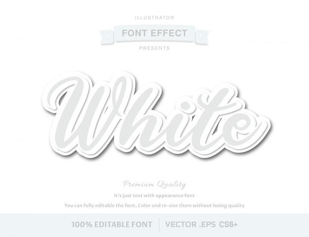 Einfacher weiß-editierbarer font-effekt