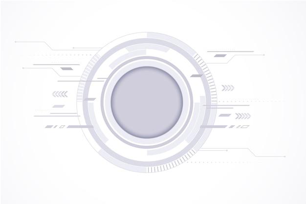 Einfacher weißer technologiehintergrund