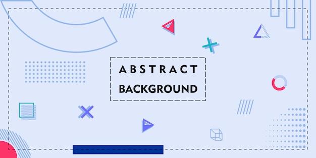 Einfaches abstraktives hintergrunddesign mit memphis-art