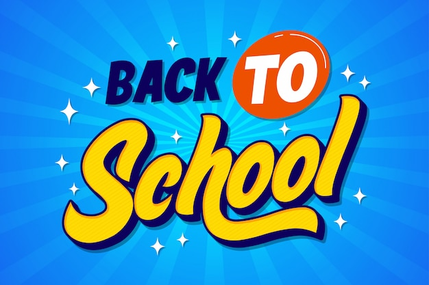 Einfaches back to school banner