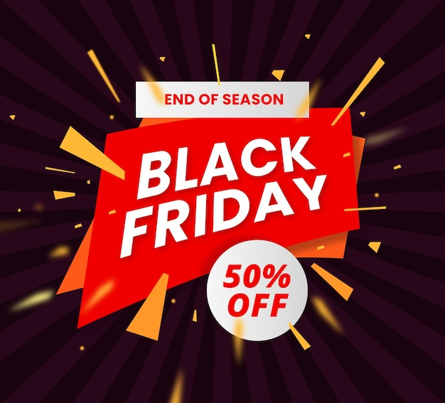 Einfaches black friday banner