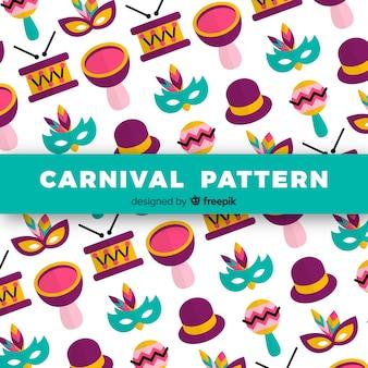 Einfaches brasilianisches karnevalsmuster