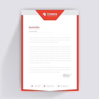Einfaches briefkopf-design Premium Vektoren