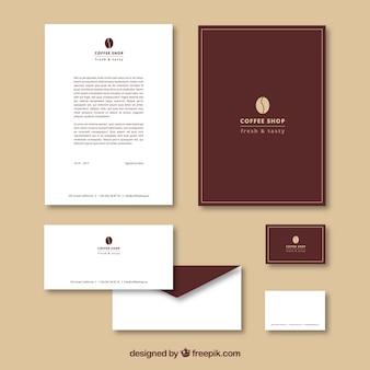 Einfaches briefpapier für coffee-shop