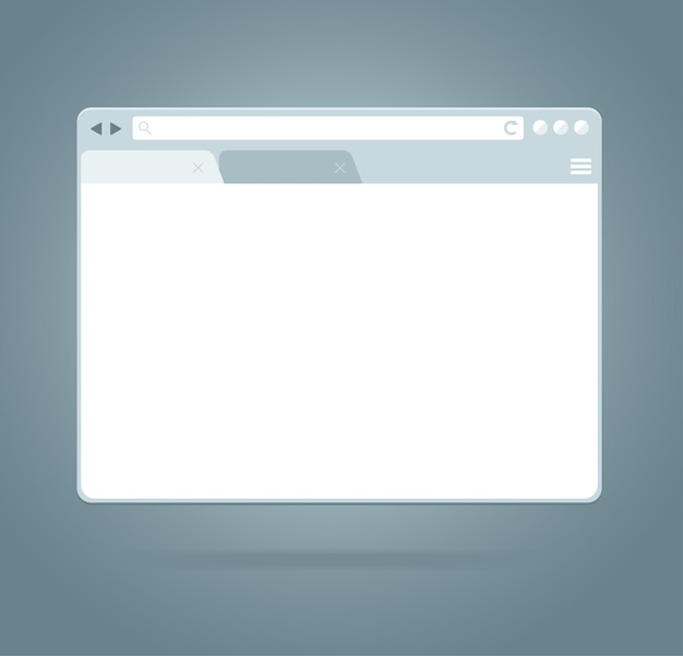 Einfaches browserfenster. geöffnete browser-vorlage.