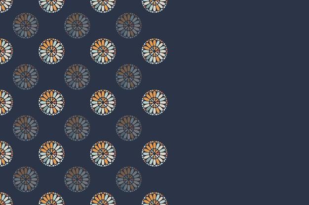 Einfaches buntes hintergrunddesign mit rundem ornament