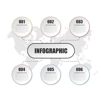 Einfaches business infographic element design