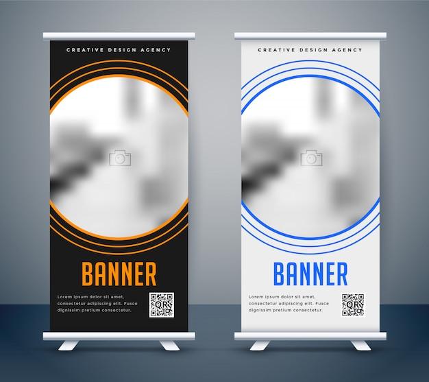 Einfaches dunkles und helles rollup-banner