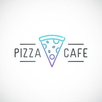 Einfaches emblem für pizzeria