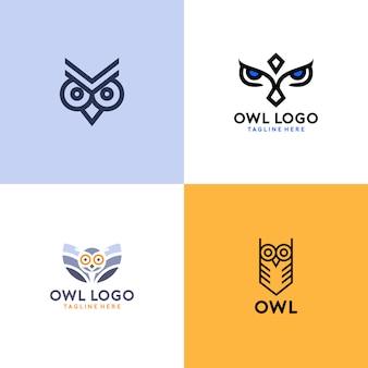 Einfaches eulen-logo