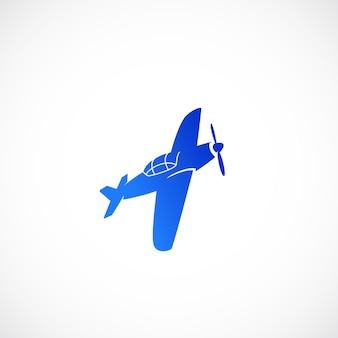 Einfaches fettes vektorflugzeugsymbol oder -symbol isoliert