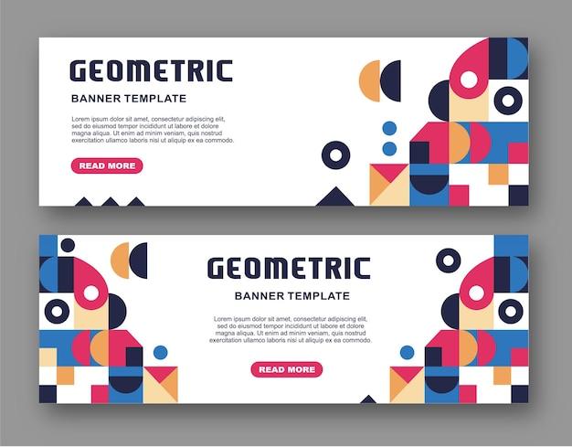 Einfaches geometrisches hintergrunddesign für banner