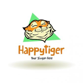 Einfaches glückliches tigerlogo
