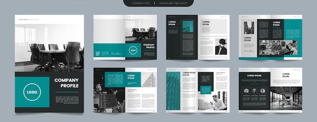 Einfaches grünes firmenprofil broschürendesign