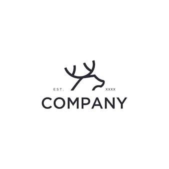 Einfaches hirsch-logo