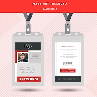 Einfaches id card design