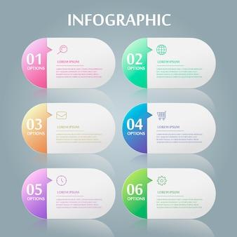 Einfaches infografik-design mit sprechblasenelementen